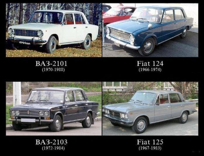 Отечественные автомобили и их зарубежные прототипы (6 фото)