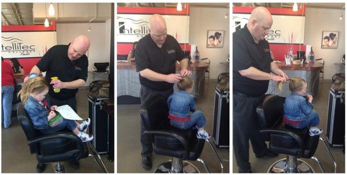 Заботливый отец стал личным стилистом своей дочери (11 фото)