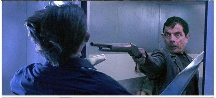 Каким был бы Терминатор, если его сыграл Роуэн Аткинсон (мистер Бин) (5 фото)