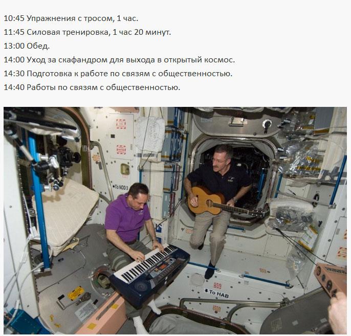 Рабочий день космонавта на МКС (5 фото)