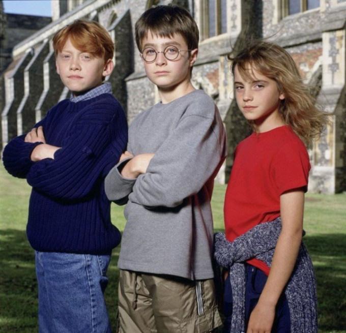 Уникальные фото главных героев фильма «Гарри Поттер» (7 фото)