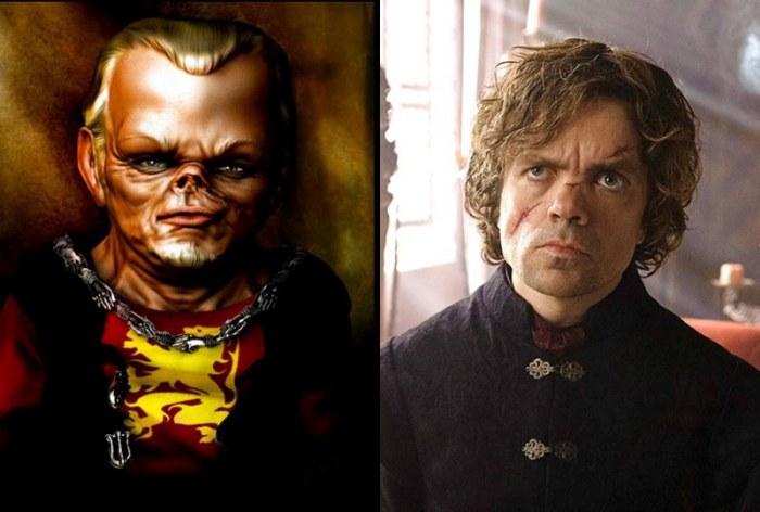 """Сравнение актеров сериала """"Игра престолов"""" с портретами реальных персонажей из книг (20 фото)"""