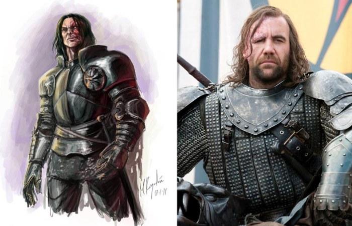 Сравнение актеров сериала «Игра престолов» с портретами реальных персонажей из книг (20 фото)