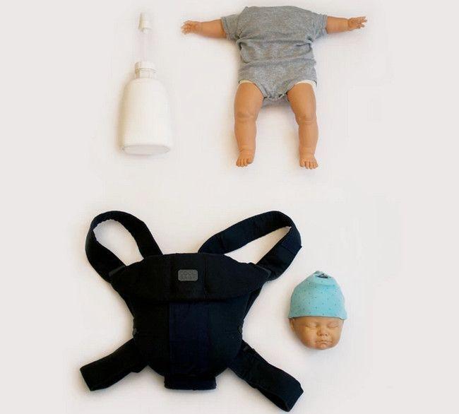Кукла спящего младенца для любителей алкогольных напитков (4 фото)