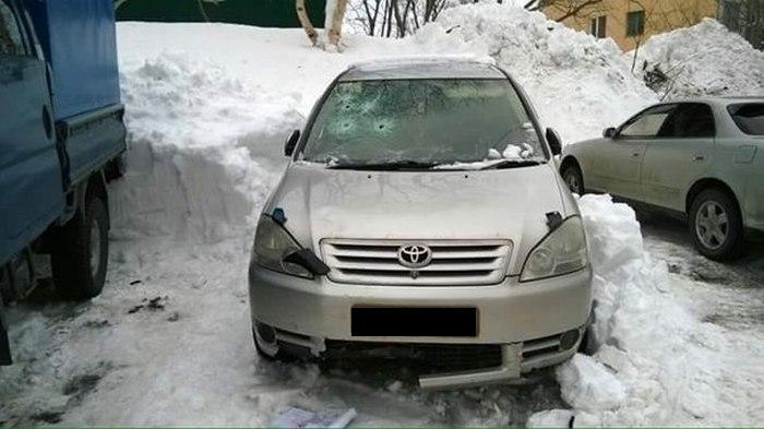 Суровая автоместь по-петропавловски (3 фото)