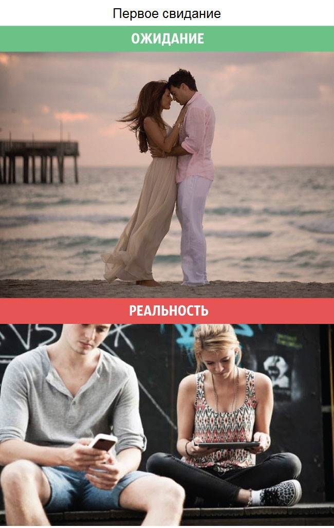 Ожидания и реальность в отношениях между мужчинами и женщинами (11 фото)