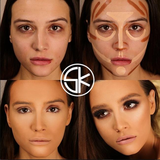 Как сделать себе макияж на фото 983
