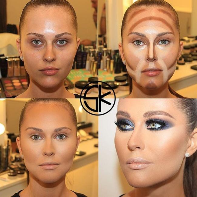 Как сделать себе макияж на фото 850
