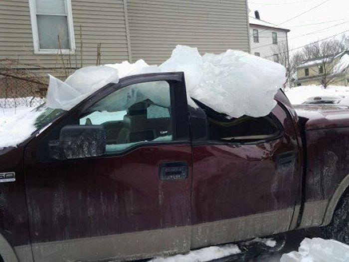 Последствия необдуманной парковки (8 фото)