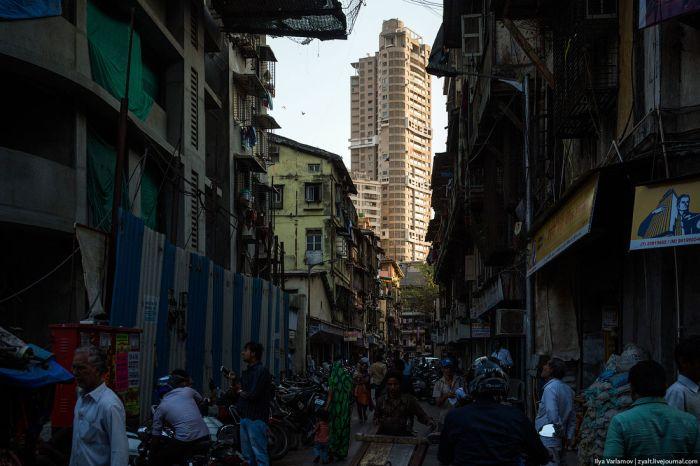 Прогулка по кварталу Каматипура индийского города Мумбаи (21 фото)