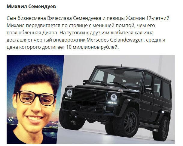На чем ездит «золотая молодежь» России (10 фото)