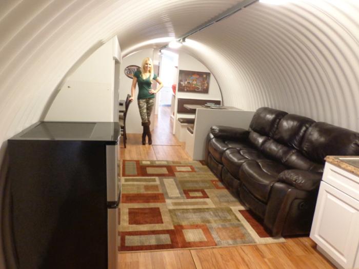 фото бункера переделанного под дом только