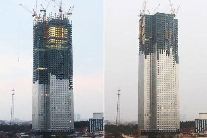 В течение 19 дней китайцы построили 57-этажный небоскреб (10 фото + видео)