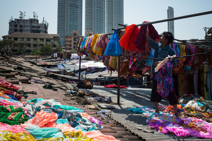 Дхоби-Гхат – район прачек в Мумбаи (26 фото)