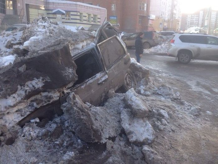 Суровые уфимские дорожники (3 фото)