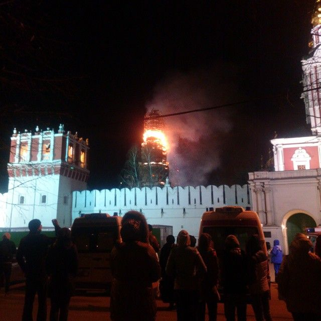 В Москве в Новодевичьем монастыре произошел пожар (фото + видео)
