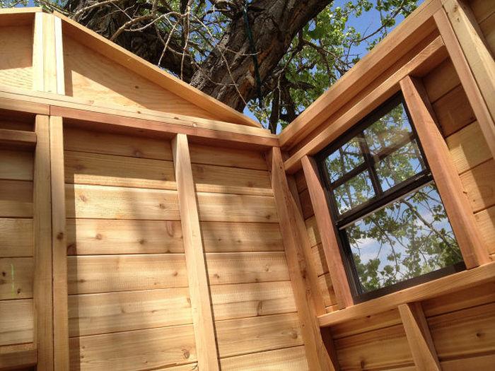 Строительство детского домика на дереве (27 фото)