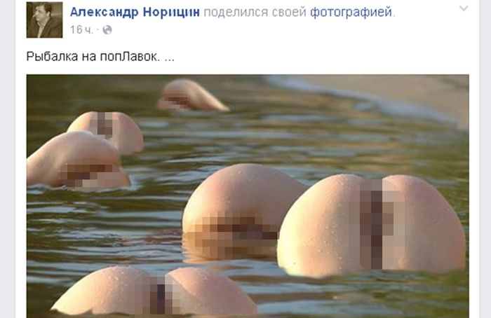 Из-за порнографического фото в центре скандала оказался депутат Александр Норицин (2 фото)