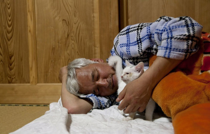55-летний японец вернулся в радиоактивную зону Фукусимы, чтобы кормить брошенных там животных (16 фото)