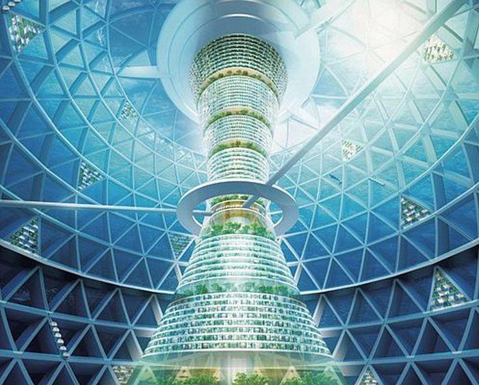 Японцы задумались о строительстве подводного города к 2035 году (7 картинок)