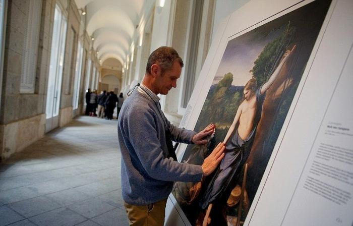 Великие картины для незрячих людей (7 фото)