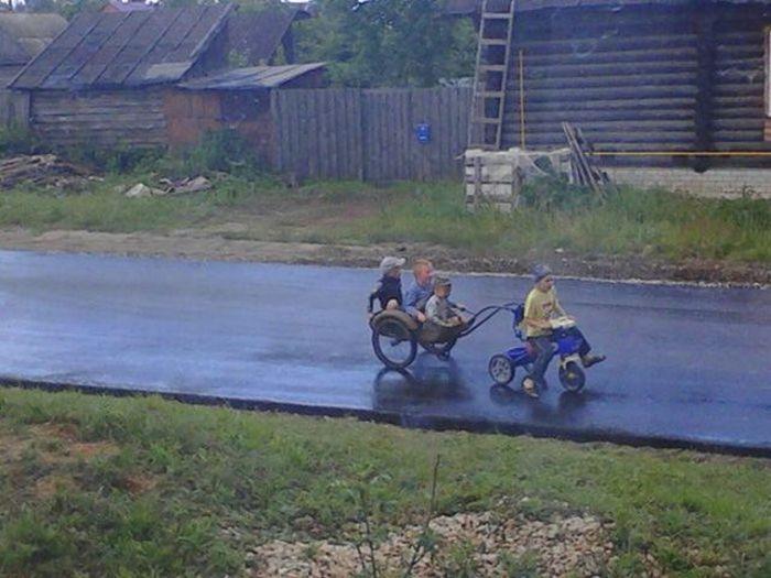 Фото, которые возможно было сделать только в России. Часть 2 (41 фото)