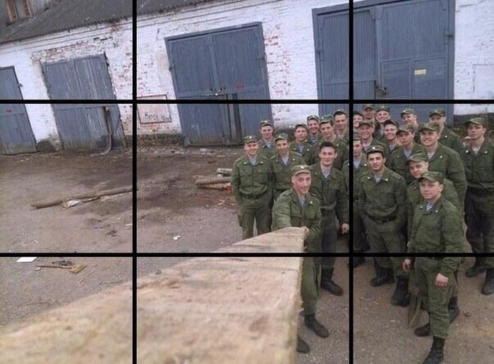 Селфи от военнослужащих, сделанное по всем правилам фотодела (4 фото)