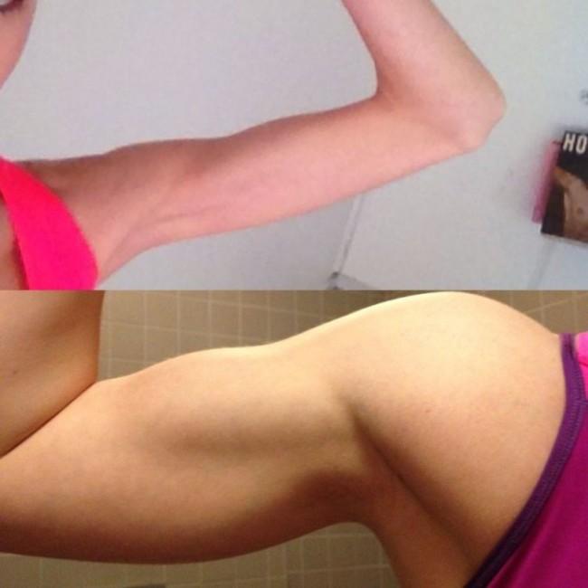 Из анорекчиски в спортивную девушку (9 фото)