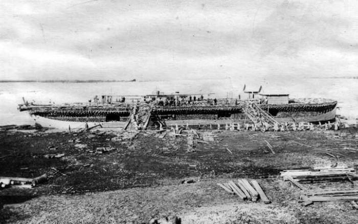 Беляна – судно для сплавки леса (17 фото)