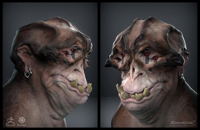 Жуткие 3D-монстры художника Доминика Квека (30 рисунков)