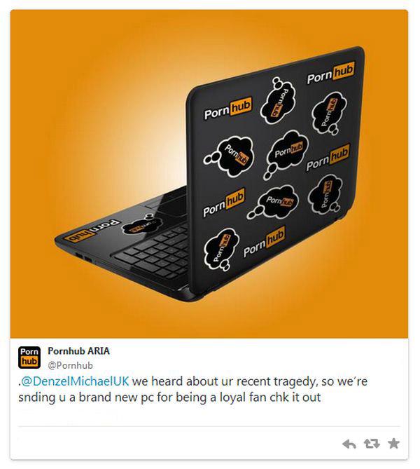 Известный порносайт вышлет своему пользователю новый ноутбук, взамен старого, который он разбил, опасаясь, что мать застанет его за просмотром порно (2 фото)