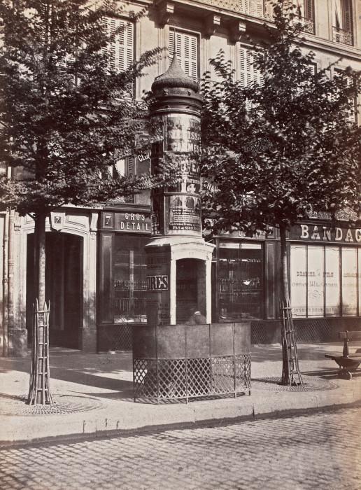 Общественные туалеты и писсуары Парижа. 1865 - 1875 год (22 фото)