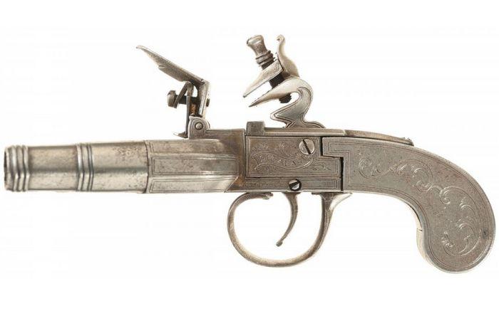 Кремневый залповый пистолет Duck Foot (11 фото)