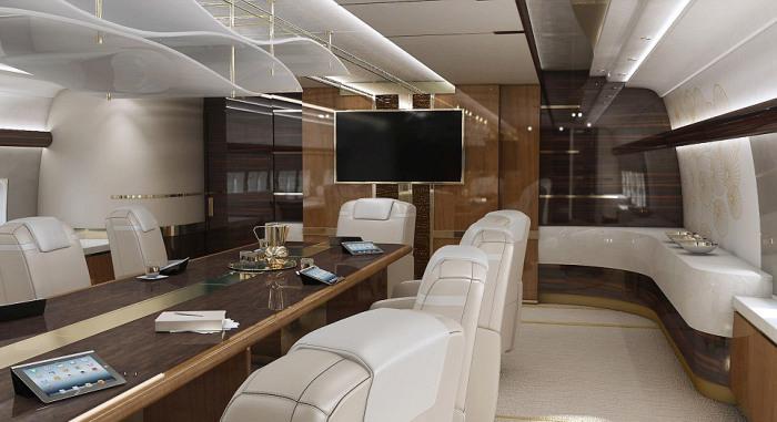 Сверхроскошный Boeing 747 за 600 миллионов долларов (13 фото)