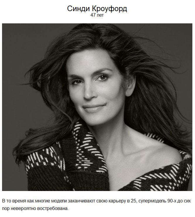 Знаменитости, сохранившие свою красоту и популярность в 40 и «за 40» (20 фото)