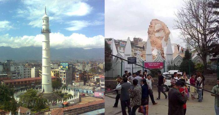 Последствия землетрясения в Непале на фото «до и после» (5 фото)
