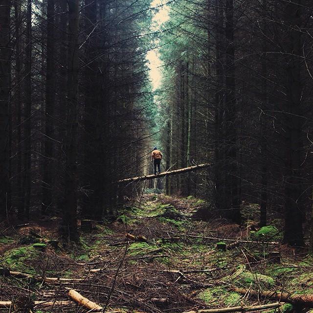 Человек на фоне природы (30 фото)