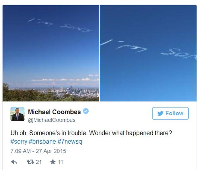 Воздушные извинения за 4000 долларов в небе над Брисбеном (6 фото + видео)