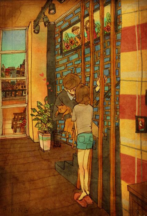 Мелочи, из которых складывается любовь (50 рисунков)