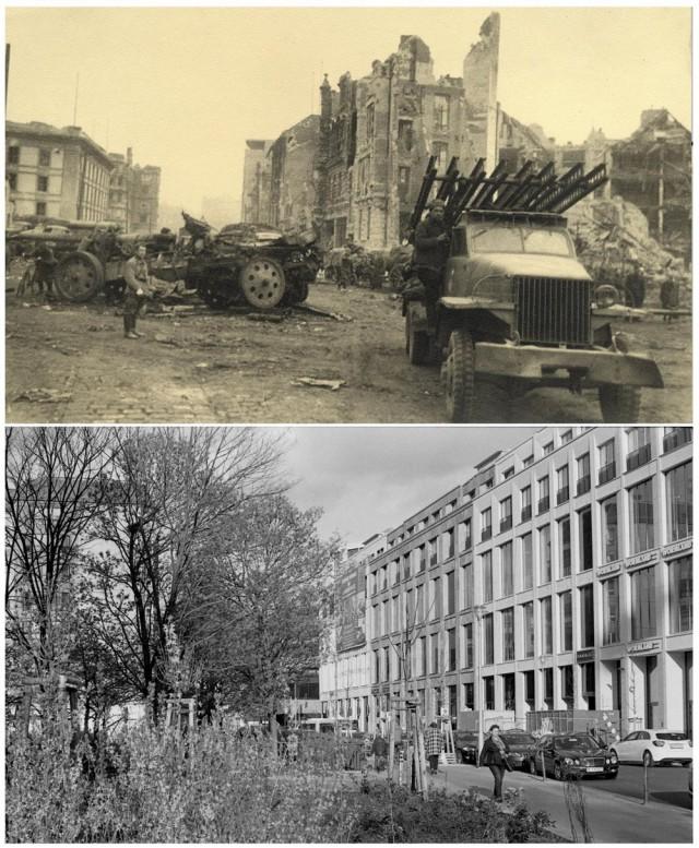 Сравнительная фотоподборка Берлина в военное и мирное время (13 фото)