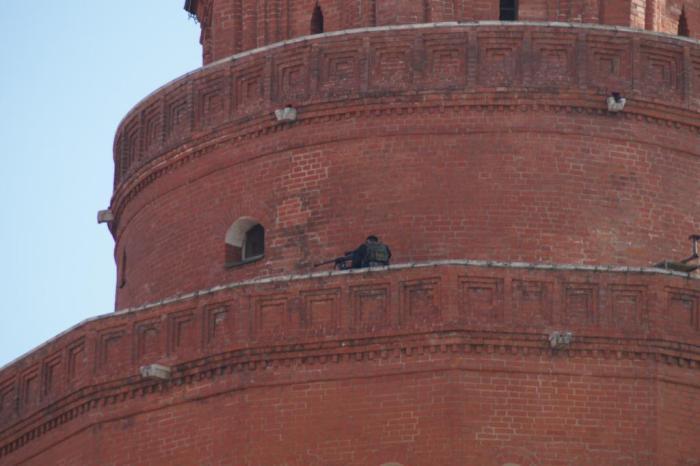 Снайперы в центре Москвы (5 фото)