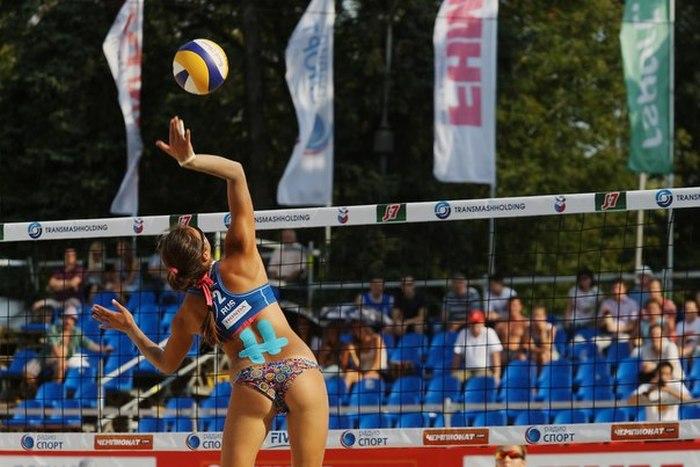 Очаровательная Дарья Рудых – российская чемпионка Европы по пляжному волейболу (24 фото)