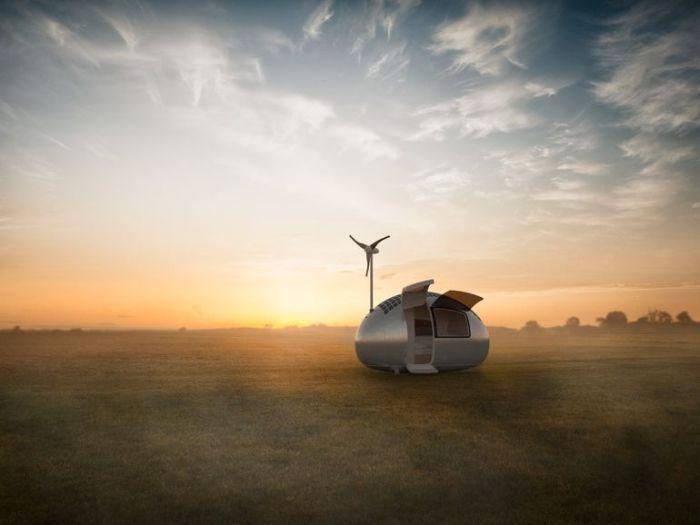 Экокапсула, как альтернатива палаткам и домам на колесах (9 фото)