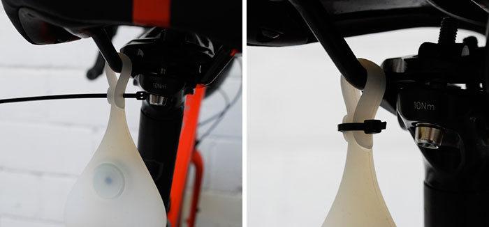 Забавный аксессуар для безопасной ночной езды на велосипеде (5 фото)