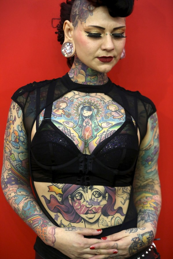 В Лондоне прошел фестиваль любителей татуировок Great British Tattoo Show 2015 (14 фото)