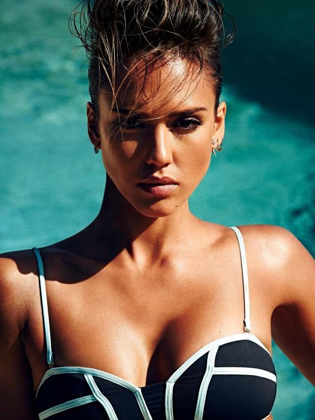 Джессика Альба в новой фотосессии для журнала Shape (10 фото)