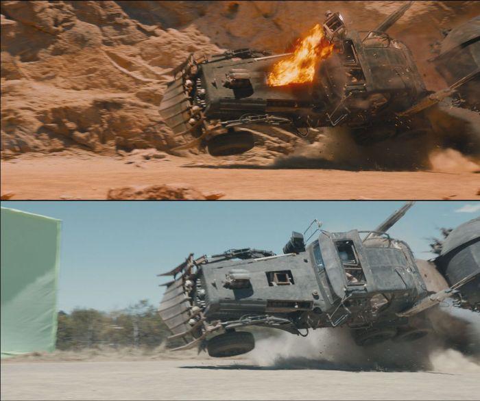 Роль графических эффектов в боевике «Безумный Макс: Дорога ярости» (26 фото)