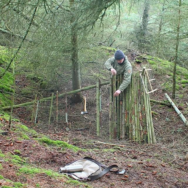 Уютный шалаш в лесу (10 фото)