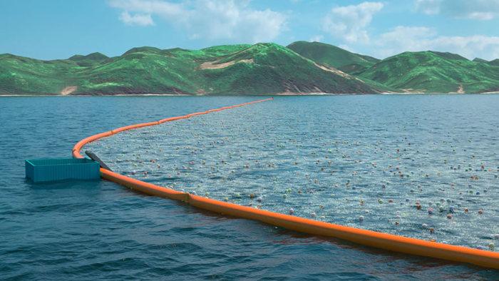 В следующем году будет запущена первая автономная система очистки океана (10 фото)
