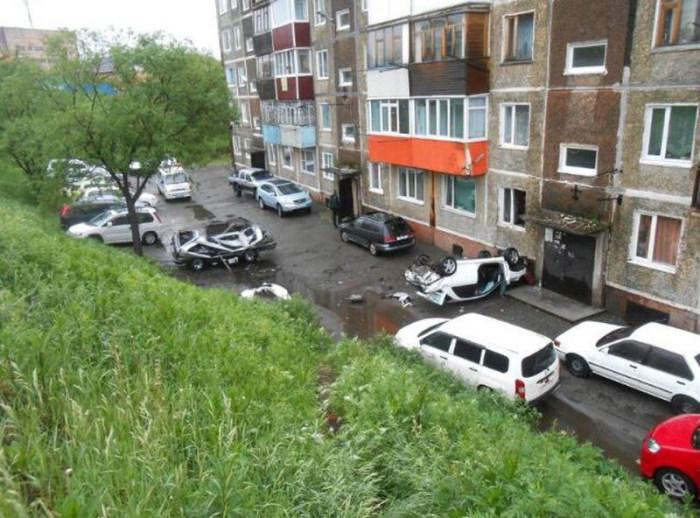 Невероятные рикошеты Subaru Impreza в Петропавловске-Камчатском (9 фото)